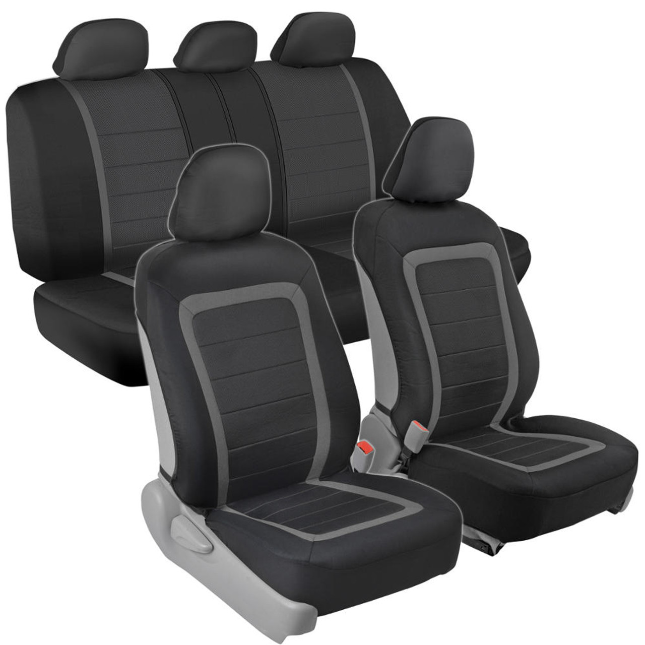 PU Vinyl Leather Car Seat Covers 9 Pieces Front /& Rear Full Interior Set