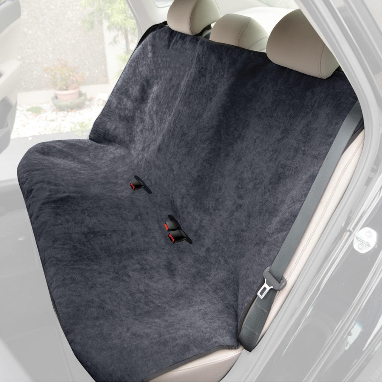 Car Front Seat Covers Waterproof Yoga Quick-Dry Sweat Towel Seat Mat Microfiber Auto Seat Protector for Fitness Gym Running Workout Beach