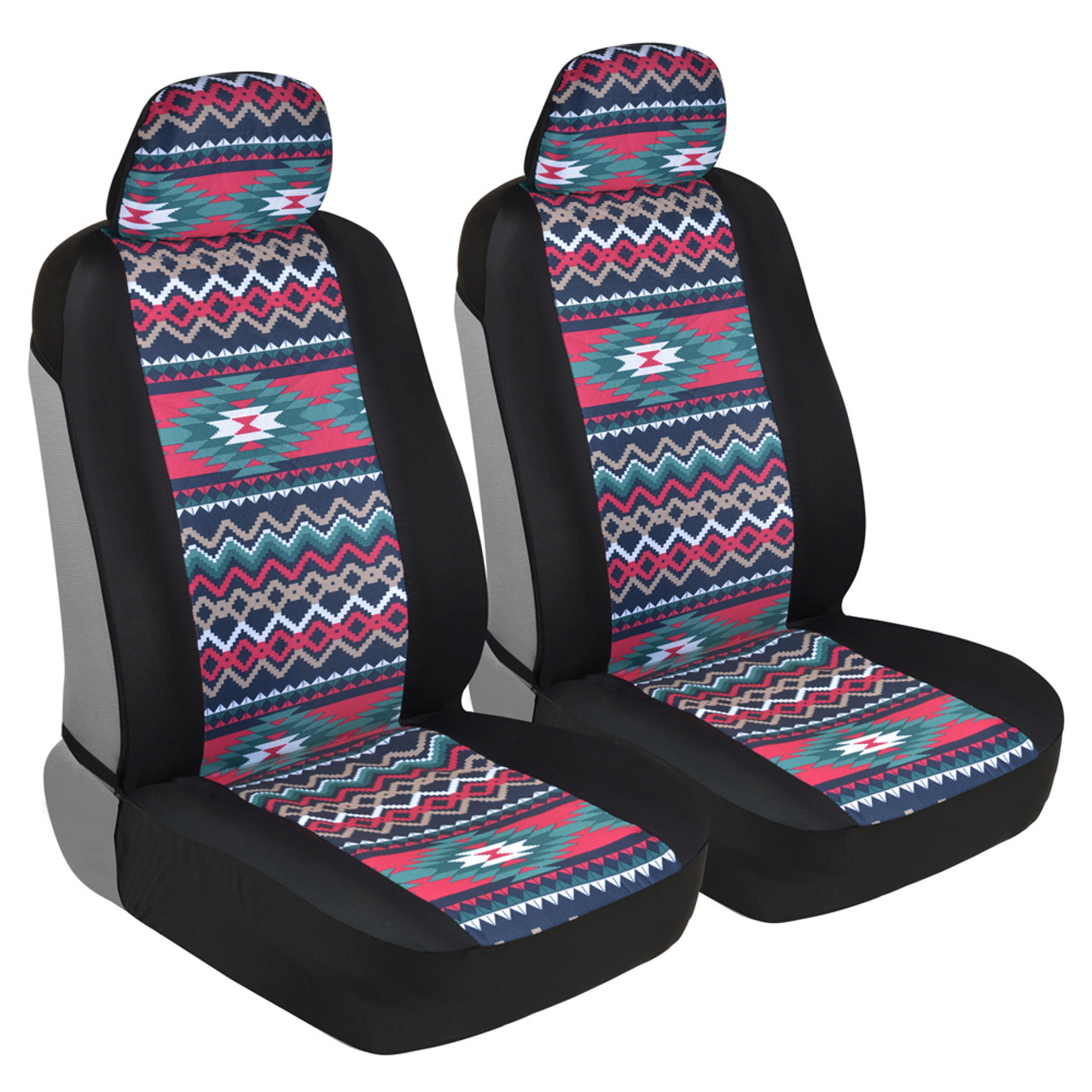 Enjoyable Two Tone Pattern Car Seat Covers Sideless Chic Style Soft Flexible Polyester Inca Tocapu Pattern Andrewgaddart Wooden Chair Designs For Living Room Andrewgaddartcom
