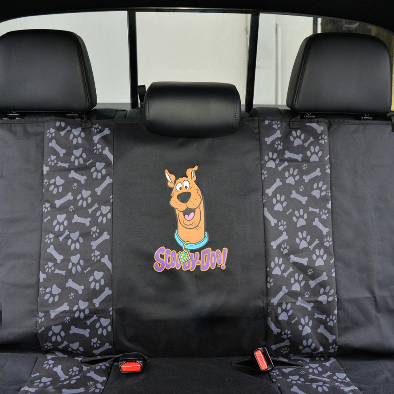 Gray Waterproof Pet Seat Cover for Rear Bench w// Odorless Rubber Car Floor Mat