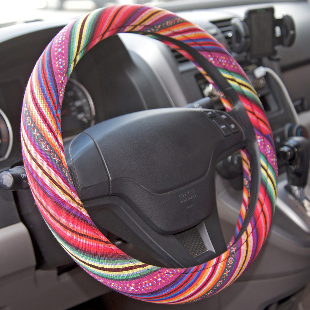 BDKUSA Steering Wheel Cover Rose Standard Size 14.5 to 15.5 inches