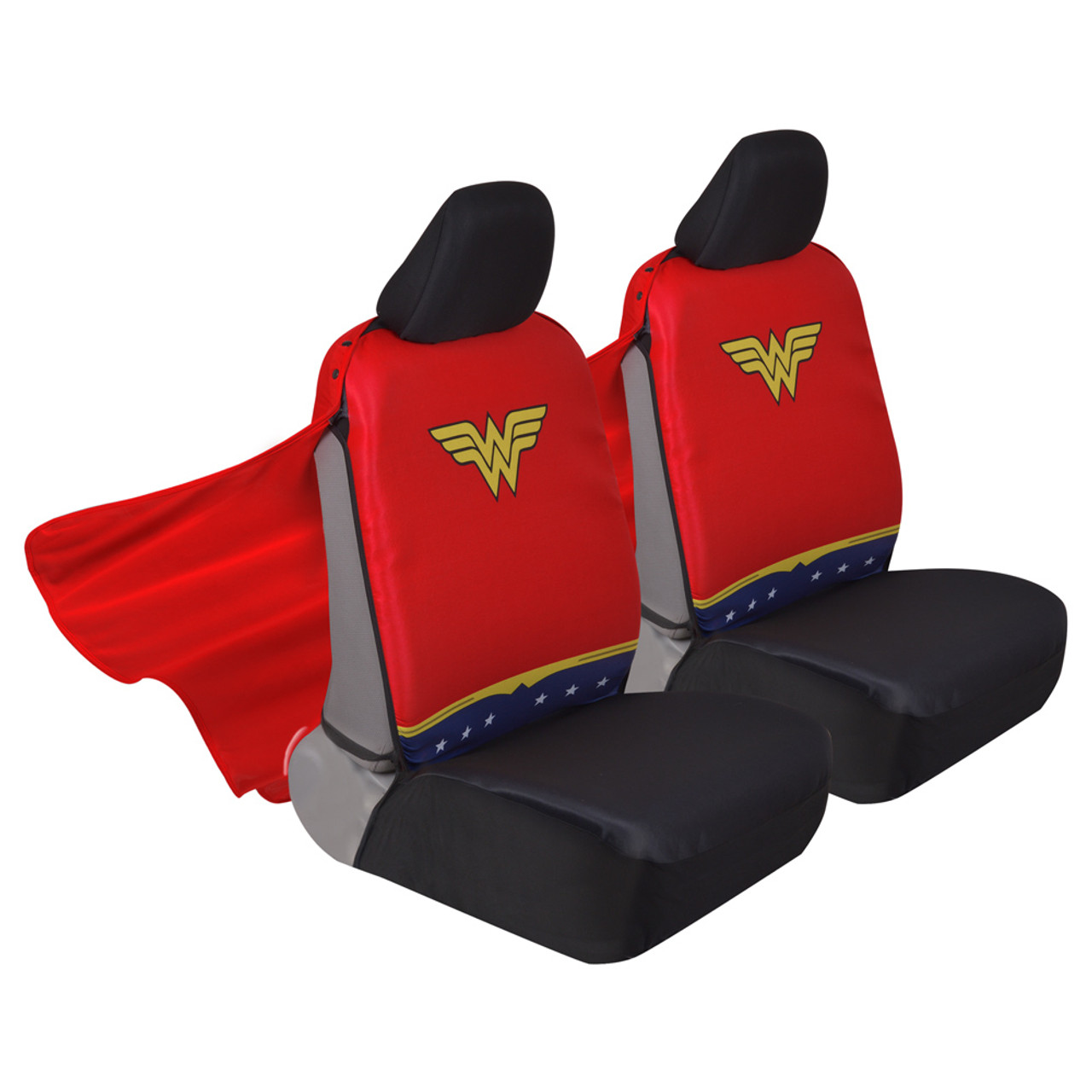 Superhero Seat Covers With Detachable Cape Backing Front Car Seat Covers Seat Back Protector Wonder Woman