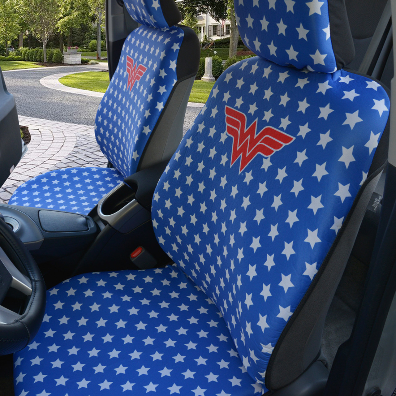 Seat Covers Heavy Duty Soft & Thick Car Seat Covers w/ Steering Wheel Cover & Seat-Belt Pads