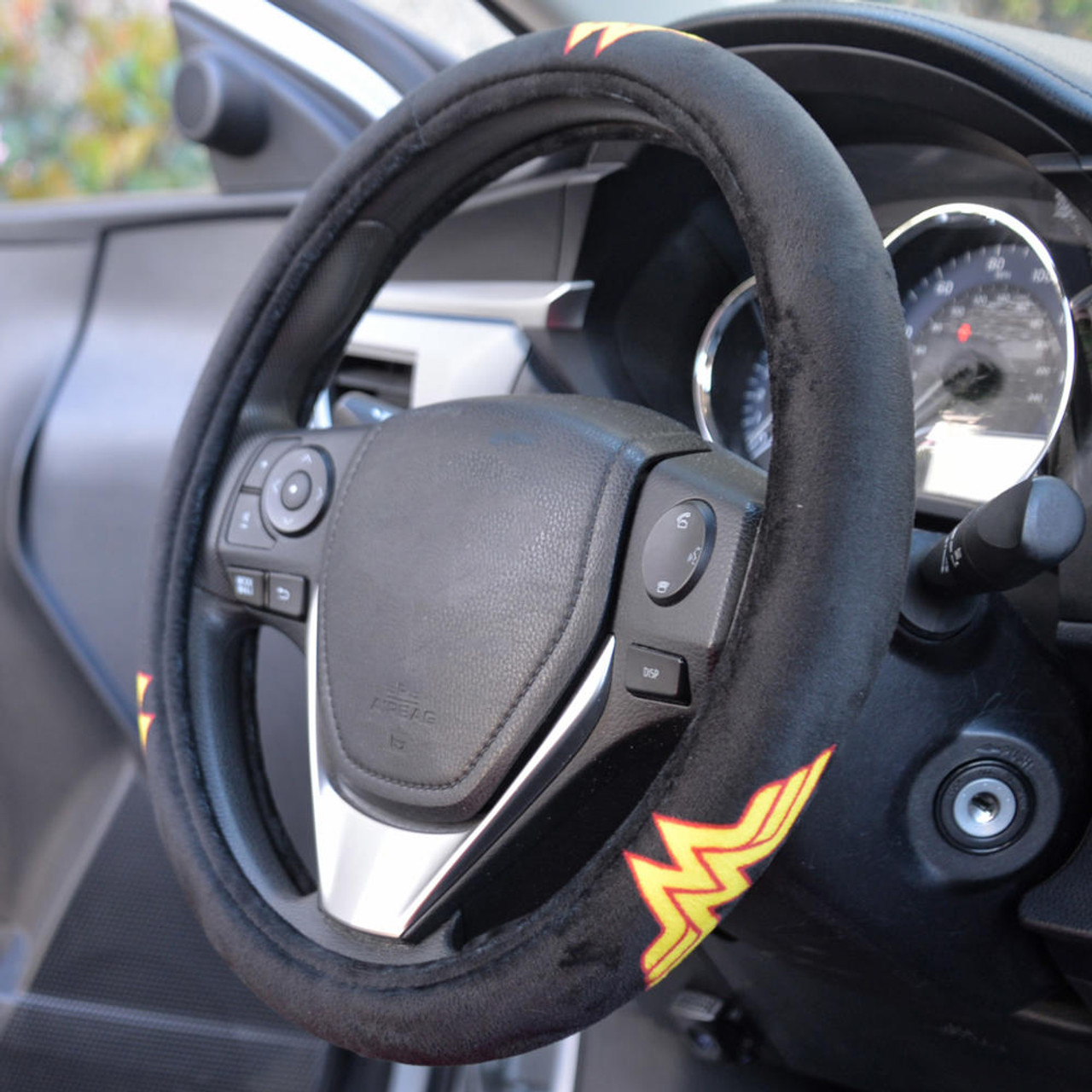 Wonder Woman Gift Car Accessories Velour Steering Wheel Cover