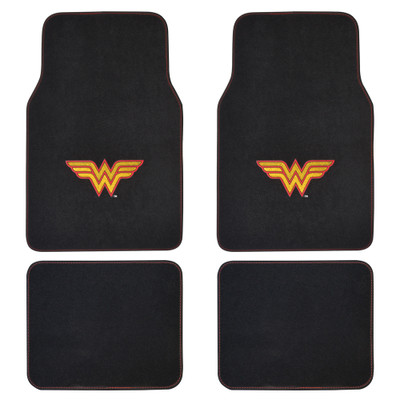 Wonder Woman Floor Mats and Seat Covers For Auto Full Gift Set Item