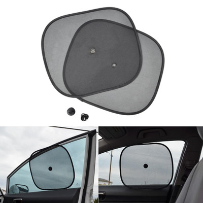 Corroy Car Window Shade 2 Pack 27.5x19.7 Side Front Window Sun Cover for Full UV Protection Semi-Transparent Mesh Sunshades Sun Protection Visors