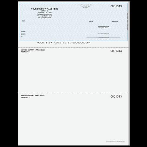 L1313 - Multi-Purpose Top Business Check