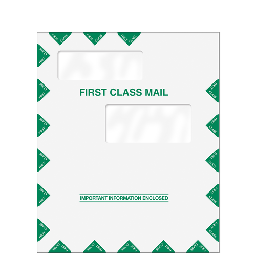 80326 - Double Window First Class Envelope (9.5 x 11.5)