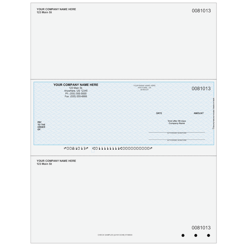 L81013C - Multi-Purpose Middle Business Check