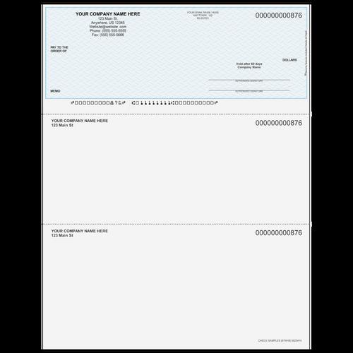 876 - Multi-Purpose Top Business Check