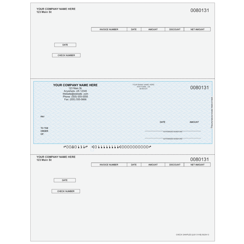 L80131 - Accounts Payable Middle Business Check