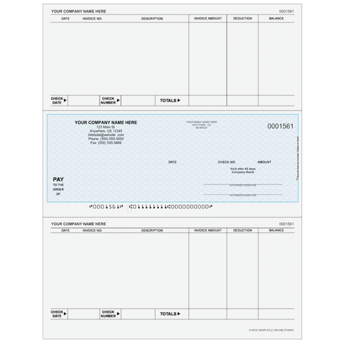 L1561 - Accounts Payable Middle Business Check