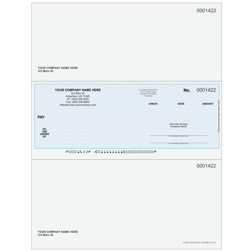 L1422 - Multi-Purpose Middle Business Check