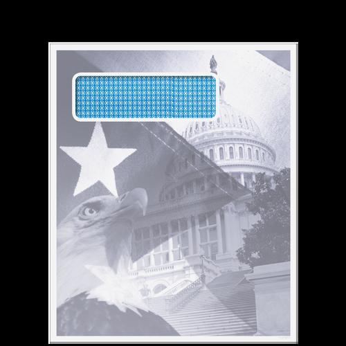 80918 - Single Window Patriotic Envelope (Peel & Close)