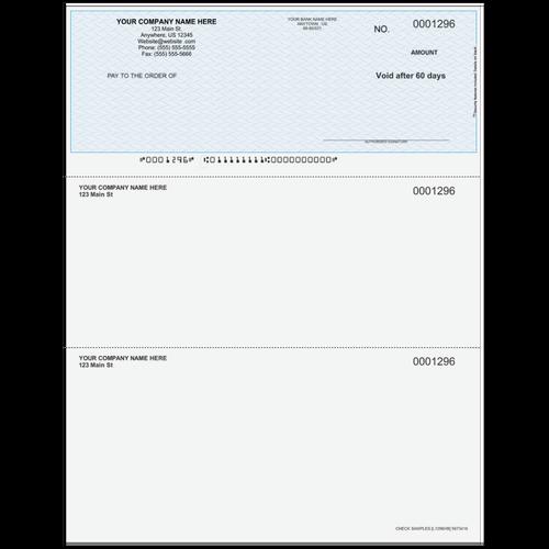L1296 - Multi-Purpose Top Business Check
