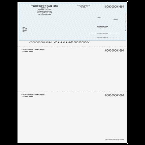 L1691 - Multi-Purpose Top Business Check