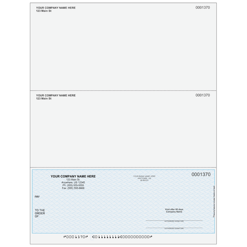 L1370 - Multi-Purpose Bottom Business Check