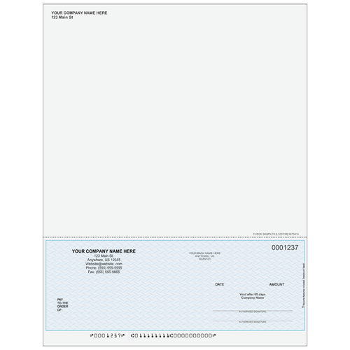 L1237 - Multi-Purpose Bottom Business Check (One Perf)