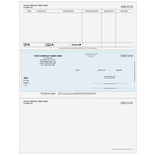 L81018 - Accounts Payable Middle Business Check