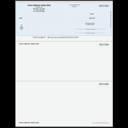 L1584 - Multi-Purpose Top Business Check