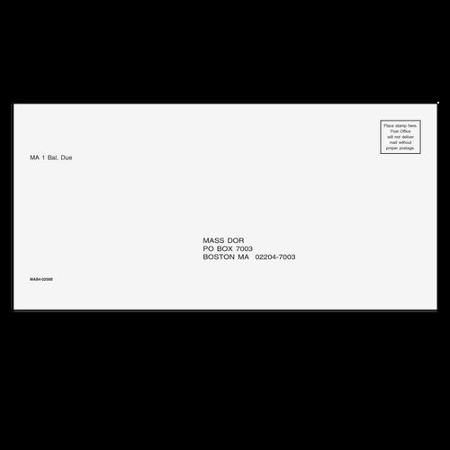 MAB410 - Balance Due Envelope - Massachusetts