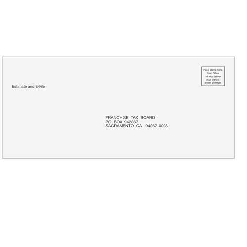 CAEST10 - Estimate/Efile Payments Envelope - CA