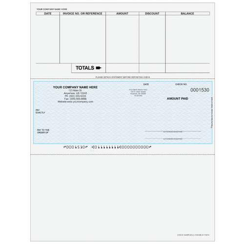 L1530 - Accounts Payable Middle Business Check