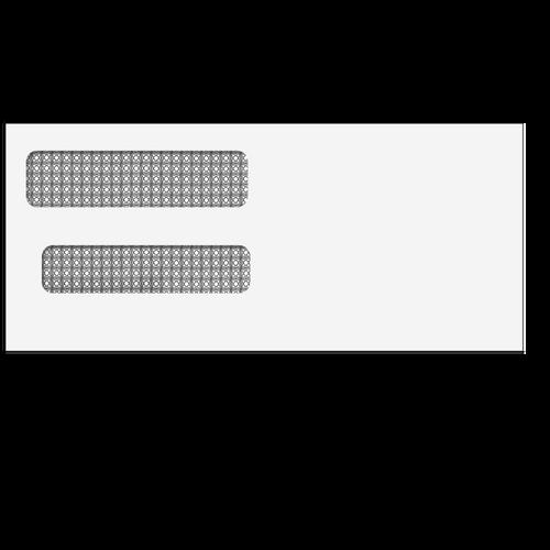 80632 - #10 Reverse Flap Double Window Envelope
