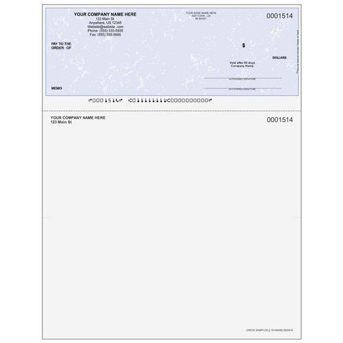 L1514A - Multi-Purpose Top Business Check (One Perf)