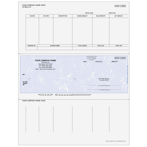 L1265B - Accounts Payable Middle Business Check