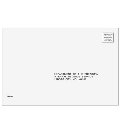 FMO610 - 1040 All Return Envelope - Kansas, City MO 6 x 9
