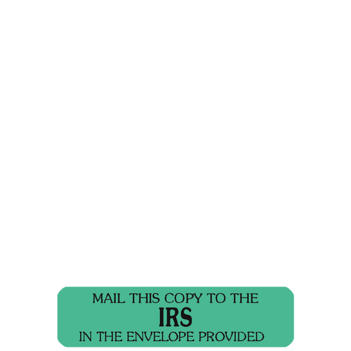 CTIRSENV14 - RediTag 'Mail to IRS'  (120 Tag Dispenser)