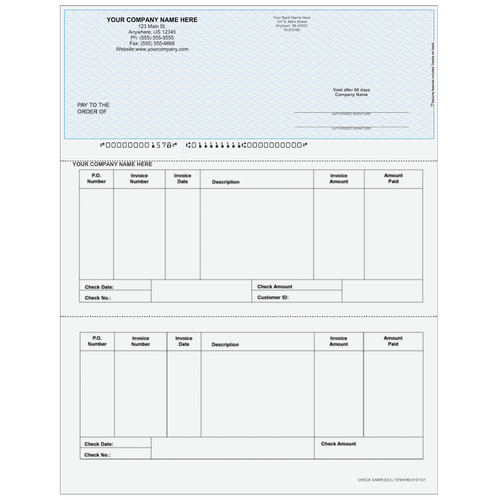 L1578A - Accounts Payable Top Business Check