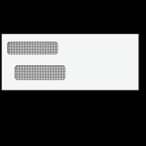 805245-R - 3 7/8x9 7/16 Reverse Double Window Envelopeuble Win