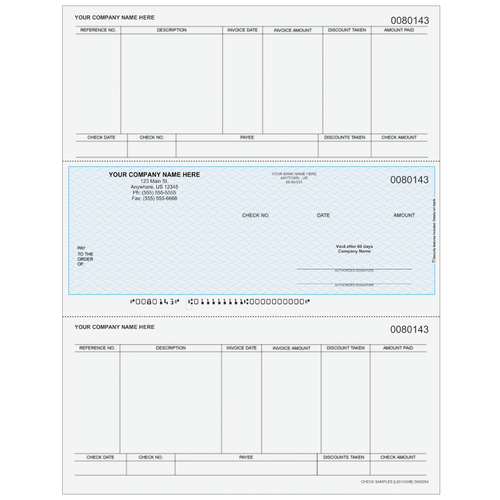 L80143 - Accounts Payable Middle Business Check