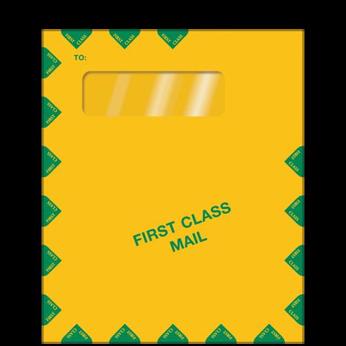 E031 - Single Window Brown Kraft Envelope (10 x 12)