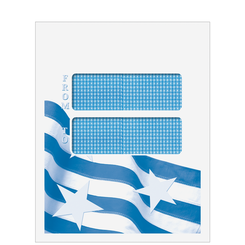 CCLNT9D10 - Double Window Patriotic Mailing Envelope