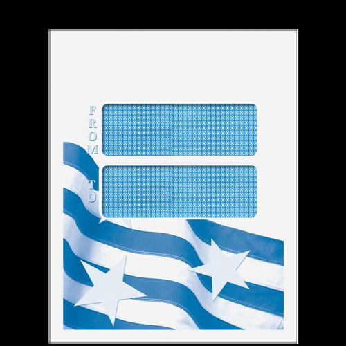 80921 - Double Window Stars & Stripes Mailing Envelope (Peel & Close)
