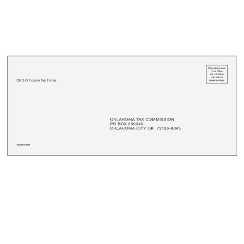 OK2DR410 - Oklahoma Returns Envelope (with 2D barcode)