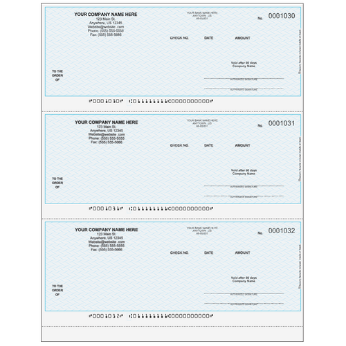 L1030 - Multi-Purpose 3-up Business Check