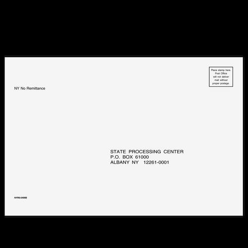 NYR610 - Refund Envelope - New York