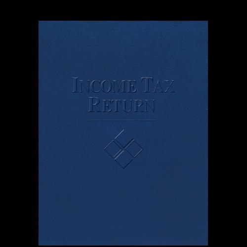 FOLDER5XX - Embossed Income Tax Return Folder with Pocket
