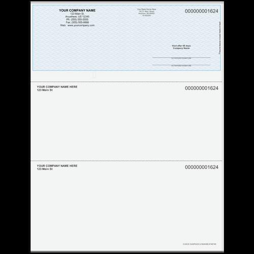 L1624 - Multi-Purpose Top Business Check