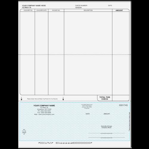 L1745 - Accounts Payable Bottom Business Check