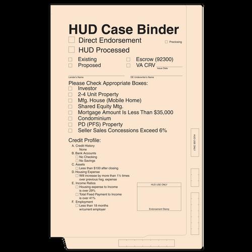 4213BF - Hud Case Binder (Manila)
