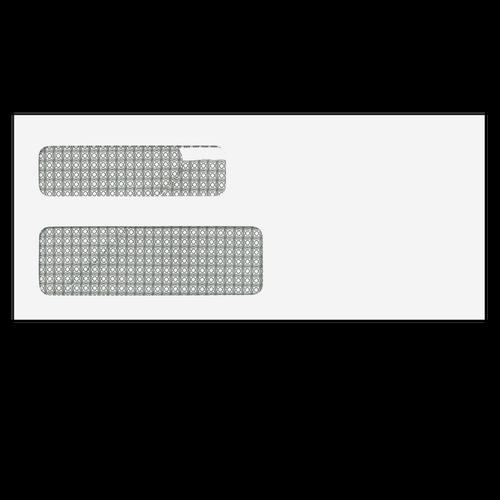 4365 - Claim Form Compatible Double Window Envelope - 4 1/8 x 9 ½