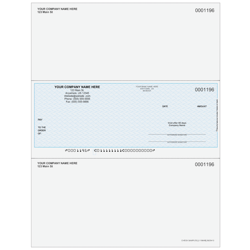 L1196 - Multi-Purpose Middle Business Check