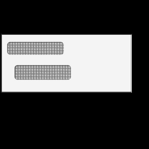 E40338S - #9 Double Window Envelope (Self Seal)