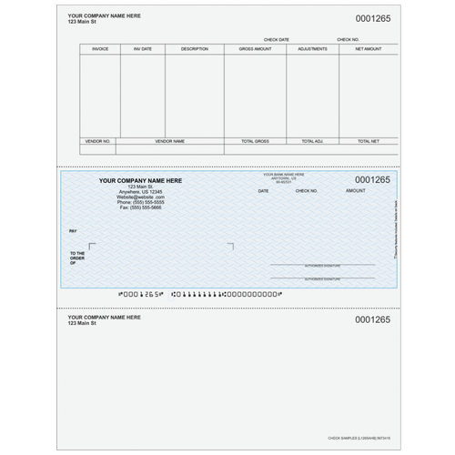 L1265A - Accounts Payable Middle Business Check