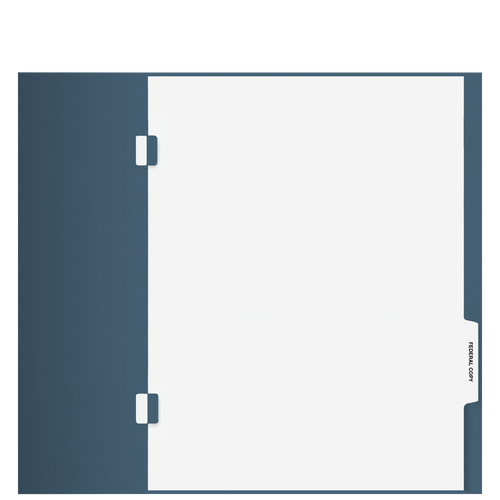 TB102S - 'Federal Copy' Side-Staple Index Tab Divider